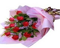 11 adet kirmizi güllerden görsel buket  Zonguldak çiçek gönderme sitemiz güvenlidir