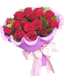 12 adet kırmızı gülden görsel buket  Zonguldak İnternetten çiçek siparişi