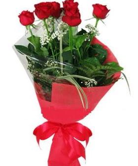 5 adet kırmızı gülden buket  Zonguldak kaliteli taze ve ucuz çiçekler