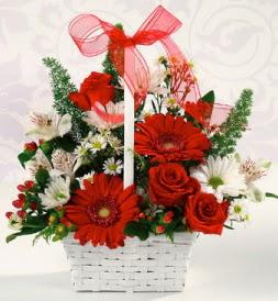 Karışık rengarenk mevsim çiçek sepeti  Zonguldak internetten çiçek siparişi