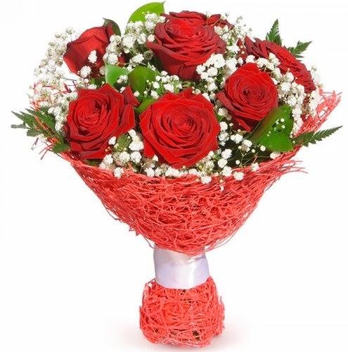 7 adet kırmızı gül buketi  Zonguldak çiçekçiler
