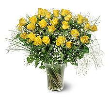 Zonguldak çiçek siparişi sitesi  15 adet sarigül mika yada cam vazoda