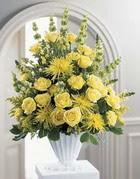 Zonguldak çiçek siparişi sitesi  sari güllerden sebboy tanzim çiçek siparisi