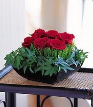 Zonguldak çiçek siparişi sitesi  10 adet kare mika yada cam vazoda gül tanzim