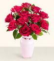 Zonguldak hediye çiçek yolla  10 kirmizi gül cam yada mika vazo tanzim