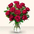 Zonguldak çiçek yolla  10 adet gül cam yada mika vazo da