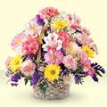 Zonguldak uluslararası çiçek gönderme  sepet içerisinde gül ve mevsim