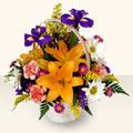Zonguldak 14 şubat sevgililer günü çiçek  sepet içinde karisik çiçekler