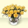 Zonguldak ucuz çiçek gönder  11 adet sari gül cam yada mika vazo içinde