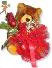 oyuncak ayi ve gül tanzim  Zonguldak çiçekçiler