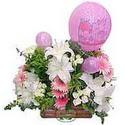 balon ve çiçeklerle tanzim  Zonguldak internetten çiçek satışı