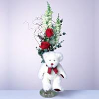 2 adet gül ve panda özel  Zonguldak İnternetten çiçek siparişi