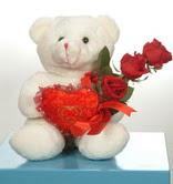 3 adetgül ve oyuncak   Zonguldak online çiçekçi , çiçek siparişi