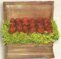 yapay güllerden sandik   Zonguldak cicek , cicekci