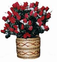 yapay kirmizi güller sepeti   Zonguldak kaliteli taze ve ucuz çiçekler