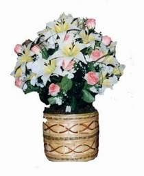 yapay karisik çiçek sepeti   Zonguldak çiçek servisi , çiçekçi adresleri