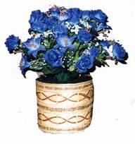 yapay mavi çiçek sepeti  Zonguldak anneler günü çiçek yolla