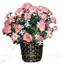 yapay karisik çiçek sepeti  Zonguldak çiçek online çiçek siparişi