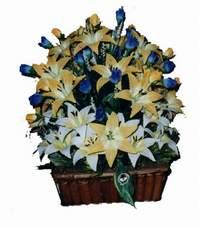 yapay karisik çiçek sepeti   Zonguldak çiçek gönderme