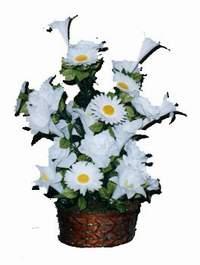 yapay karisik çiçek sepeti  Zonguldak çiçek siparişi vermek