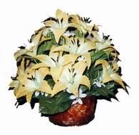 yapay karisik çiçek sepeti   Zonguldak çiçek siparişi sitesi