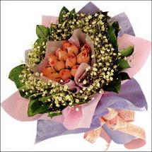 11  adet  gül ve   elyaflar   Zonguldak İnternetten çiçek siparişi