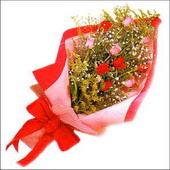 12 adet renkli  gül buketi   Zonguldak İnternetten çiçek siparişi