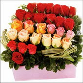 15 adet renkli gül ve cam   Zonguldak İnternetten çiçek siparişi