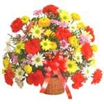 karisik renkli çiçek sepet   Zonguldak çiçek gönderme sitemiz güvenlidir