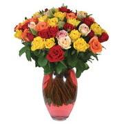 51 adet gül ve kaliteli vazo   Zonguldak çiçek gönderme sitemiz güvenlidir