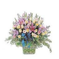 sepette kazablanka ve güller   Zonguldak çiçek gönderme
