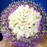 71 adet beyaz gül buketi   Zonguldak çiçek , çiçekçi , çiçekçilik