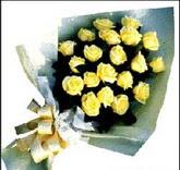 sari güllerden sade buket  Zonguldak çiçek , çiçekçi , çiçekçilik