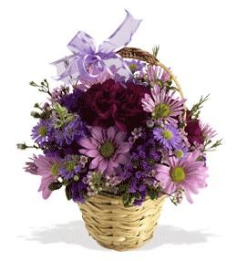 Zonguldak uluslararası çiçek gönderme  sepet içerisinde krizantem çiçekleri
