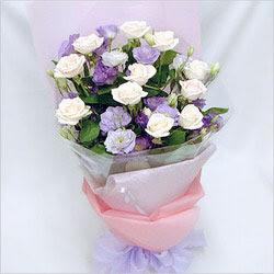 Zonguldak internetten çiçek satışı  BEYAZ GÜLLER VE KIR ÇIÇEKLERIS BUKETI