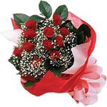 Zonguldak internetten çiçek satışı  KIRMIZI AMBALAJ BUKETINDE 12 ADET GÜL