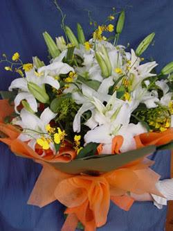Zonguldak internetten çiçek satışı  5 ADET KAZABLANKA BUKETI KALITEDEN SASMAYANLARA