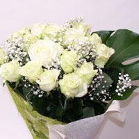 Zonguldak hediye çiçek yolla  11 adet sade beyaz gül buketi