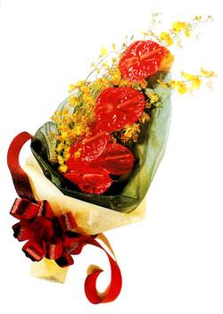 özel 5 adet antorium buketi   Zonguldak çiçek gönderme sitemiz güvenlidir