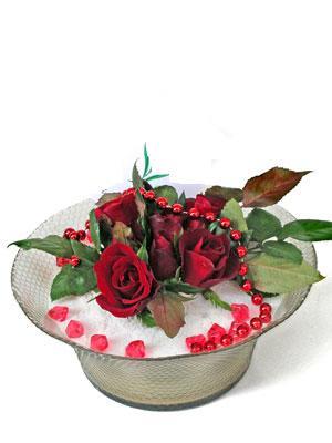 Zonguldak çiçek siparişi vermek  EN ÇOK Sevenlere 7 adet kirmizi gül mika yada cam tanzim