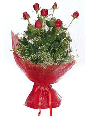 Zonguldak çiçek servisi , çiçekçi adresleri  7 adet gülden buket görsel sik sadelik
