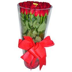 Zonguldak çiçek online çiçek siparişi  12 adet kirmizi gül cam yada mika vazo tanzim