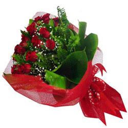 Zonguldak kaliteli taze ve ucuz çiçekler  12 adet kirmizi essiz gül buketi - SEVENE ÖZEL