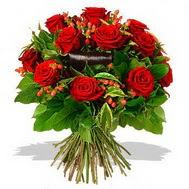 9 adet kirmizi gül ve kir çiçekleri  Zonguldak internetten çiçek satışı