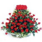 Zonguldak kaliteli taze ve ucuz çiçekler  41 adet kirmizi gülden sepet tanzimi