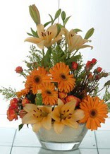 Zonguldak çiçek servisi , çiçekçi adresleri  cam yada mika vazo içinde karisik mevsim çiçekleri