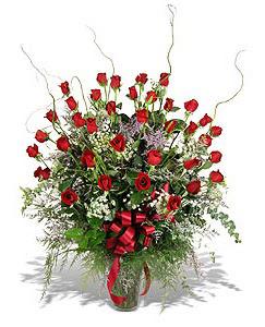 Zonguldak çiçek siparişi sitesi  33 adet kirmizi gül vazo içerisinde
