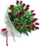 Zonguldak internetten çiçek satışı  11 adet kirmizi gül buketi sade ve hos sevenler