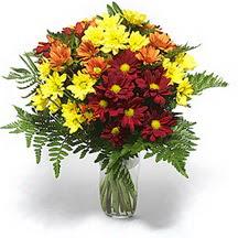 Zonguldak çiçek siparişi sitesi  Karisik çiçeklerden mevsim vazosu