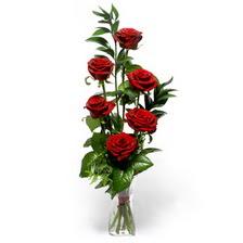 Zonguldak uluslararası çiçek gönderme  mika yada cam vazoda 6 adet essiz gül